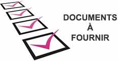 Inscription documents à fournir